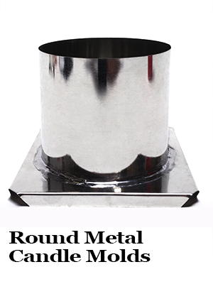 Round Metal Candle Molds