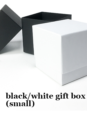 black and white candle box