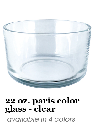 22 oz. Paris colored glass - clear