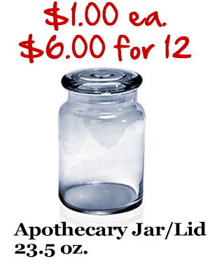 Apothecary Jar with lid 23.5 oz.