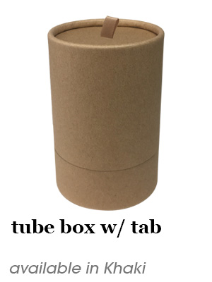 Tube Box w/ tab - Khaki