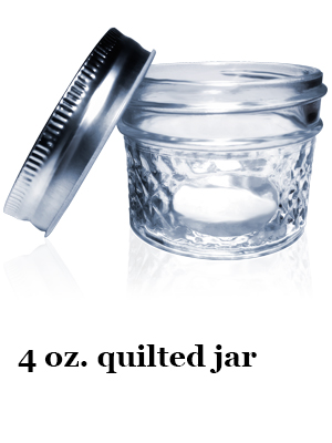 2 ounce quilted jar