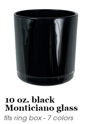 10 oz. Monticiano Glass - fits ring box - black