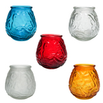 Victorian Colored GlassContainer Candles